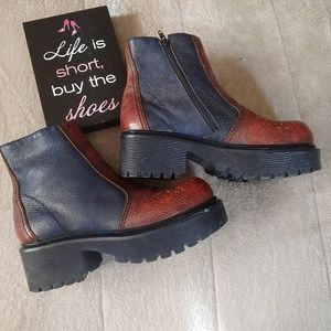 MIA vintage chunky leather boots
